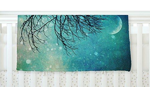 KESS InHouse Sylvia Cook Winter Moon Fleece Baby Blanket 40 x 30 [並行輸入品]   B077Z37FP1