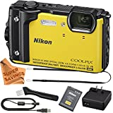 Nikon Coolpix AW130 Shock & Waterproof GPS Digital Camera (Yellow - VNA842E1 / 26494) with Free Super Savings Exclusive Microfiber Cloth
