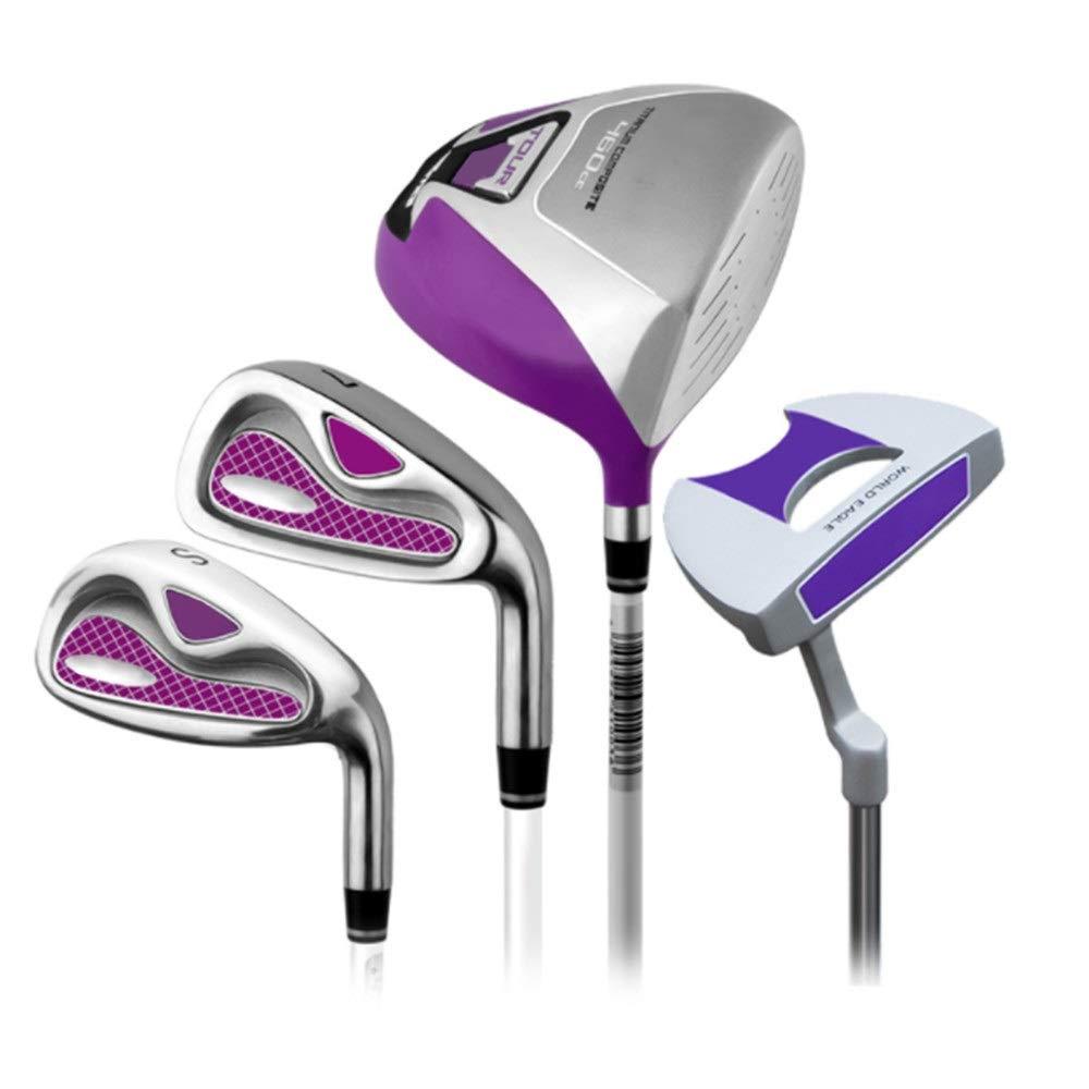 テン アイアン 4ピースゴルフセットロッドレディースハーフセットゴルフクラブゴルフパターピンク右手用ゴルフパター用女性 ゲーム レジャー ファミリースポーツ (色 : One color, サイズ : S2) B07QK8KPX1 One color S2