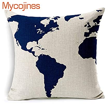 Amazon.com: Sea Style Decorative Pillows Nautical Anchor ...