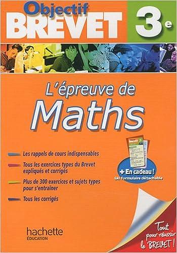 Livres audio à télécharger gratuitement L'épreuve de maths 3e by Philippe Rousseau en français