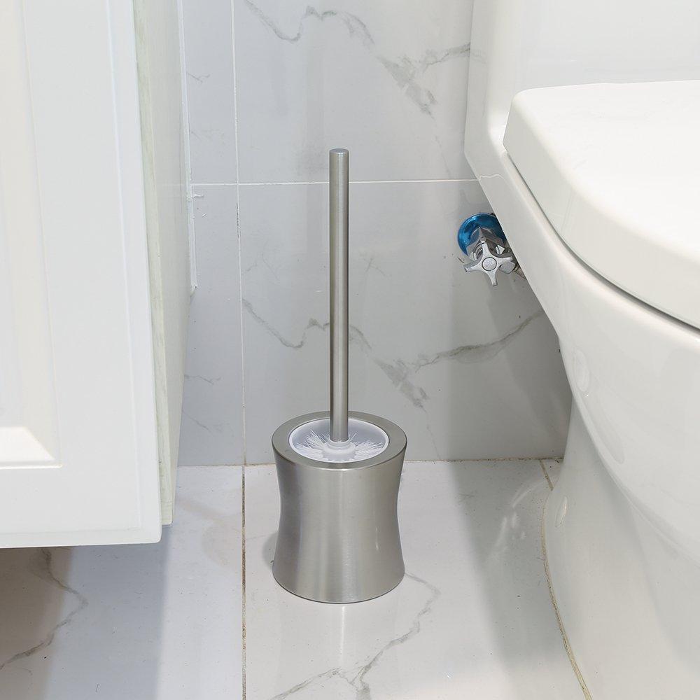 OYSHOPP Escobillero de WC Elegante escobilla de ba/ño de Acero Inoxidable Escobillas y portaescobillas de Inodoro 02-Tipo de Cintura