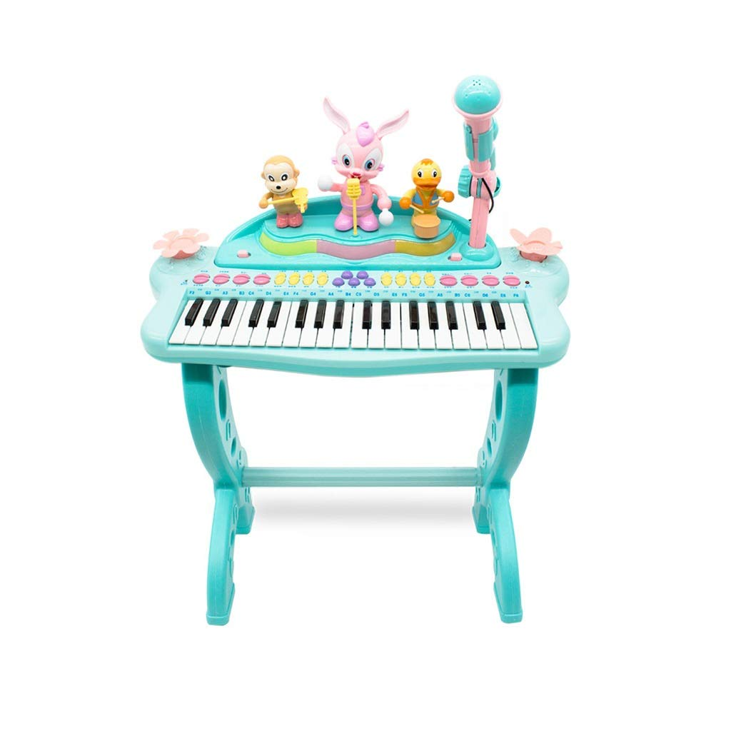 LIUFS-Piano Children's Multi-Function Keyboard Toy Fun Music Instrument Playing Mode Piano Over 3 Years Old (Color : Blue) by LIUFS-Piano