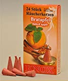 KNOX Baked Apple Scented Incense Cones, Pack of 24, Made in Germany