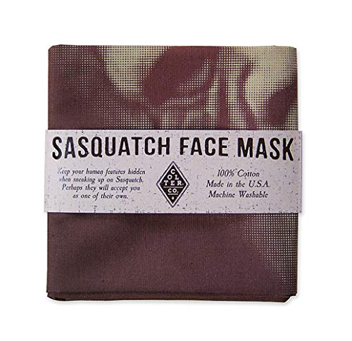 Colter Co. Survival Bandana for Fishing, Camping, Hiking (Sasquatch face mask) | 100% Cotton, Made in The -