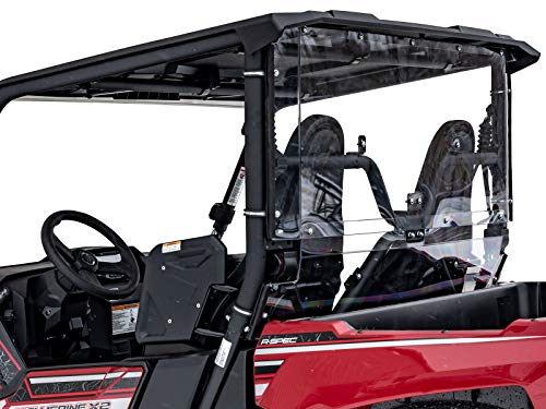 SuperATV Lightly Tinted Polycarbonate Rear Windshield for Yamaha Wolverine X2 (2019+) - Easy to Install! ()