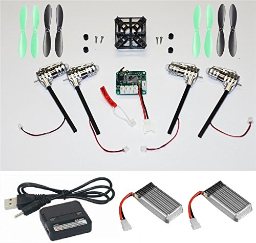 Walkera Devo Compatible V2 3.7v BNF (No Controller) Black & Green 32MPH Mini Quadcopter EASY BUILD Kit 2.4Ghz Easy to Fly, Upgrade, Repair! Flips & Rolls (No Canopy) 5 Channels