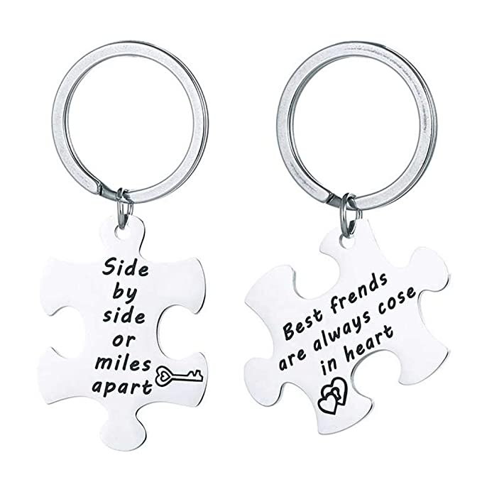 Amazon.com: FENICAL Keychain Stainless Steel Friendship ...