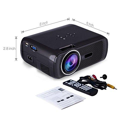 Fastfox Hd Projector Full Color 720p 3000 Lumens Analog Tv: FastFox Video Projector 800 Lumen 800×480 Multimedia LCD