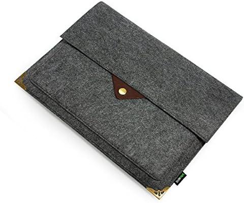 d92fdfa0cb Lavievert Feutre et cuir Housse pour ordinateur portable Sac d ...