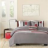 Mi-Zone Pipeline Comforter Set, Full/Queen, Red