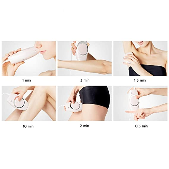 Sistema de eliminación de vello Depilador de luz depilatorio permanente sin dolor Dispositivo de belleza en el cuerpo, la cara y el bikini y las axilas, ...