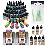 Ultimate Ranger Tim Holtz Alcohol Ink Bundle, All 60 Colors, All 7 Mixatives, 2X Alcohol Ink Storage Tins and 10x Pixiss Alcohol Ink Blending Tools