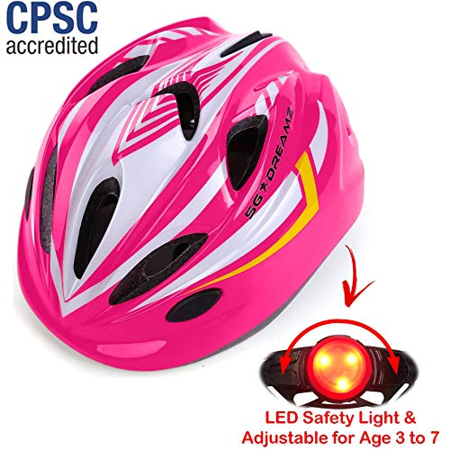 (KIDS Helmet - Adjustable from Toddler to Youth Size, Ages 3 To 7 - Durable Kid Bicycle Helmets with Fun Racing Design Boys and Girls will LOVE - CSPC Certified)