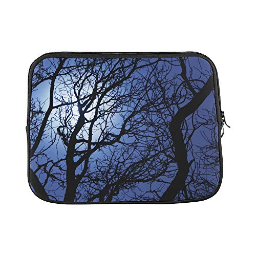 Design Custom Sly Dark Forest Spooky Branch Nature Halloween Gray Black Horror Atmosphere Sleeve Soft Laptop Case Bag Pouch Skin for MacBook Air 11