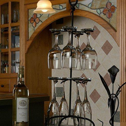 (Wire Black Wine Glass Rack Holder 25