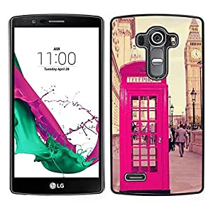[Neutron-Star] Snap-on Series Teléfono Carcasa Funda Case Caso para LG G4 [Phone Booth Uk United Kingdom Big Ben]