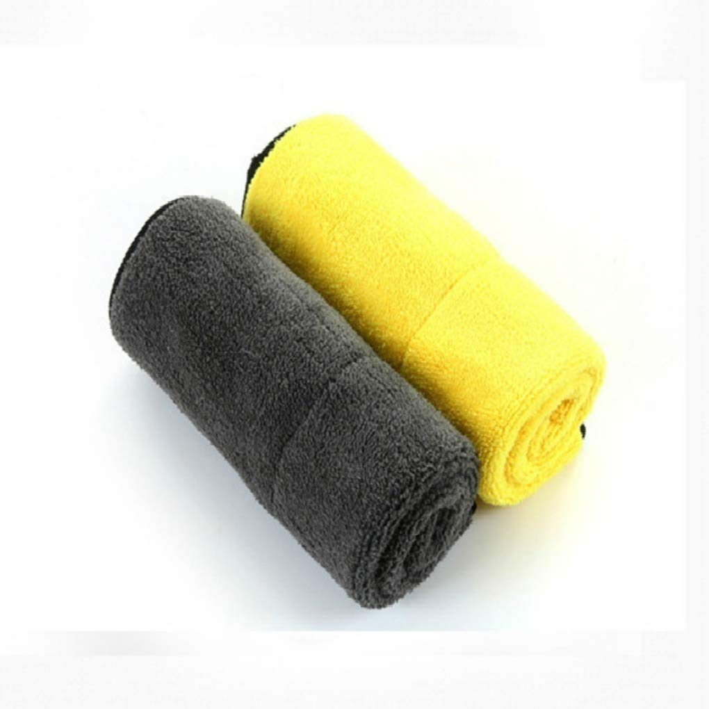 Zerama Thicken Vehicle Car Wash Towel Water Absorbing High Density Coral Fleece Double Color Sided Cleaning Drying Cloth