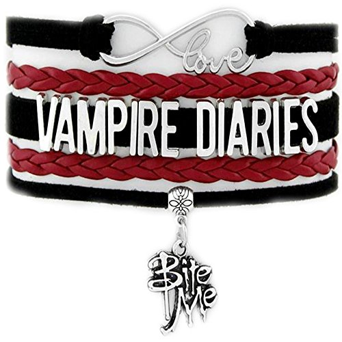 Infinity Love Vampire Diaries Bracelet with Bite Me Charm