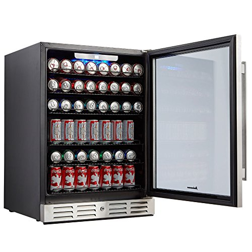 Kalamera 24'' Beverage Refrigerator 175 Can Built-in or Freestanding Single Zone Touch Control by Kalamera (Image #4)