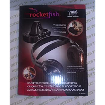 Rocketfish RF-RBWHP01 Rocketboost Wireless Stereo Headphones