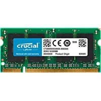Crucial 2GB Single DDR2 800MHz (PC2-6400) CL6 SODIMM 200-Pin Notebook Memory Module CT25664AC800