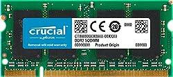 Crucial 1gb Ddr2-800, Pc2-6400, 200-pin Sodimm Cl=6 Unbuffered Non-ecc Laptop Memory - Ct12864ac800