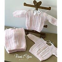 Chambrita de bebé rosa/regalo recién nacido/ropita de bebé/babyshower/bautizo/niño/niña