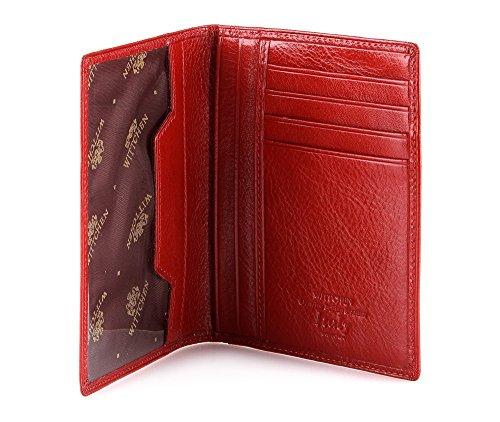WITTCHEN caso, Rosso, Dimensione: 12.5x9.5 cm - Materiale: Pelle di grano - 21-2-174-3