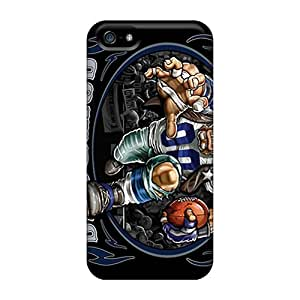 Fashion Tpu Case For Iphone 5/5s- Dallas Cowboys Defender Case Cover
