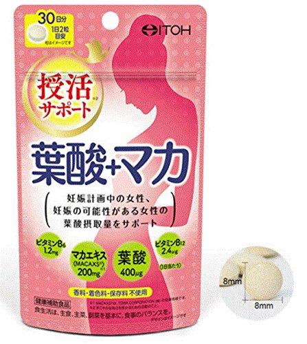 井藤漢方製薬 葉酸+マカ 60粒×6個セット B077D6Y7QC