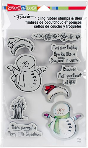 STAMPENDOUS Smiling Snowman Stamp and Die Set
