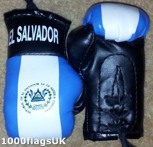 El Salvador Flag Mini Boxing Gloves Ideal for Car Home or Office