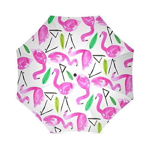 Christmas/Thanksgiving Gift Beautiful Flamingo Pattern Foldable Sun/Rain Umbrella Sunshade Parasol