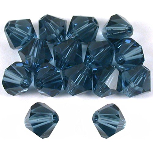 15 Montana Bicone Swarovski Crystal Beads Part 5301 6mm