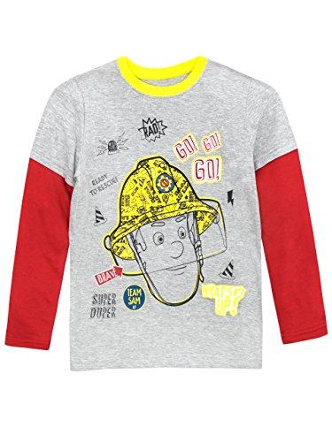 Fireman Shirts Tee (Fireman Sam Boys' Fireman Sam Long Sleeved Top Size 5)