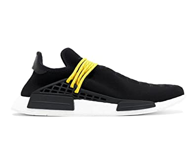 51d3c7cdd6256 Unisex NMD HU Human Race New Black Yellow Lace Pharrell Williams Tennis  Sneakers Shoes (