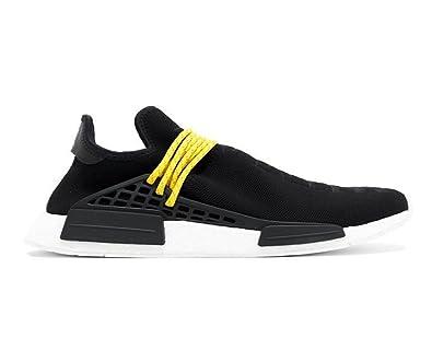 3ad49b289 Unisex NMD HU Human Race New Black Yellow Lace Pharrell Williams Tennis  Sneakers Shoes (