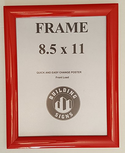 - Red Snap Poster Frame/ Picture Frame / notice frame 8.5 x 11 Front Load Easy Open Snap frame ( Aluminum !!!)