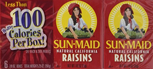 Sun Maid California Raisins 6 Pack (7/8 Oz Boxes)