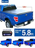 Tyger Auto TG-BC2C2060 Low Profile Roll-Up Truck Bed Tonneau Cover works with 2014-2018 Chevy Silverado / GMC Sierra 1500 | Fleetside 5.8' Bed | For models without Utility Track System