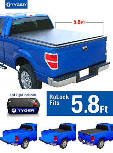 Tyger Auto TG-BC2C2060 Low Profile Roll-up Truck Bed Tonneau Cover Works with 2014-2018 Chevy Silverado/GMC Sierra 1500 | Fleetside 5.8' Bed | for Models Without Utility Track System -
