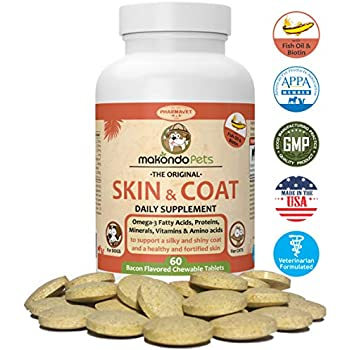 Amazon.com : Skin and Coat Supplement for Dogs and Cats - Fish Oil for Dogs Fatty Acids ...