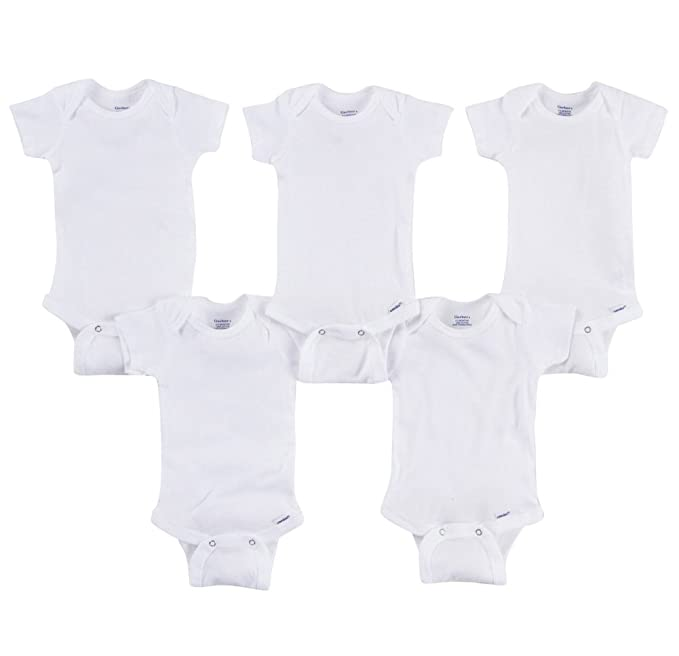 5083aa6e9 Amazon.com: Gerber 5pc White Onesies - Preemie Size: Clothing