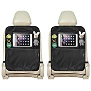 HIPPIH Seat Back Protector, Kick Mats, Waterproof Back Seat Protector, Tablet Holder for Car