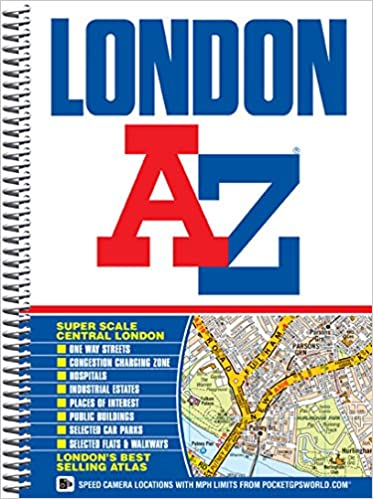 Az Street Map Of London.London Street Atlas Spiral A Z Street Atlas Amazon Co Uk