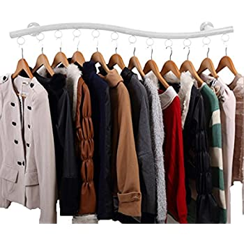 Amazon Com Wall Mounted Clothes Hanging System Yifan
