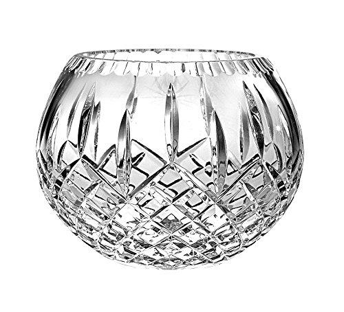 Barski European Hand Cut Crystal Rose Bowl, 5'' D (5 inches D)- Plaza Design - Made in Europe by Barski