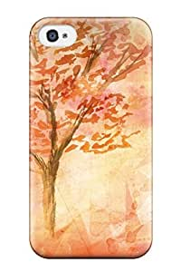Cute Appearance Cover/tpu BbjWCta7946ubfzv Fall In October Case For Iphone 4/4s