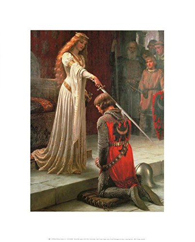 The Accolade Art Print by Edmund Blair Leighton 16 x 20in (Print Accolade Poster)